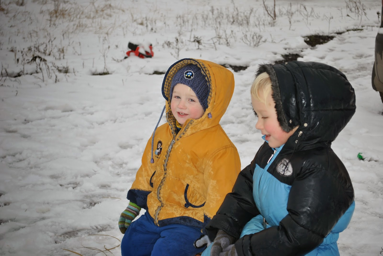 Просто каникулы, и конечно же все довольны и счастливы - особенно дети). А тут еще и снег нас побаловал).