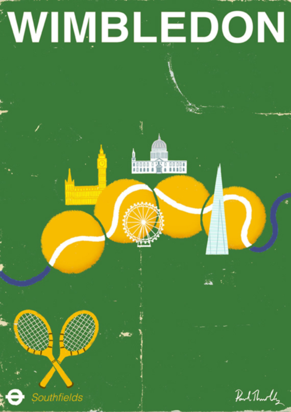 green graphic design inspiration tennis poster