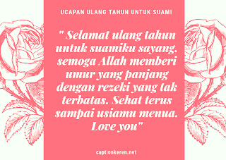 gambar kata-kata ucapan ulang tahun untuk suami islami