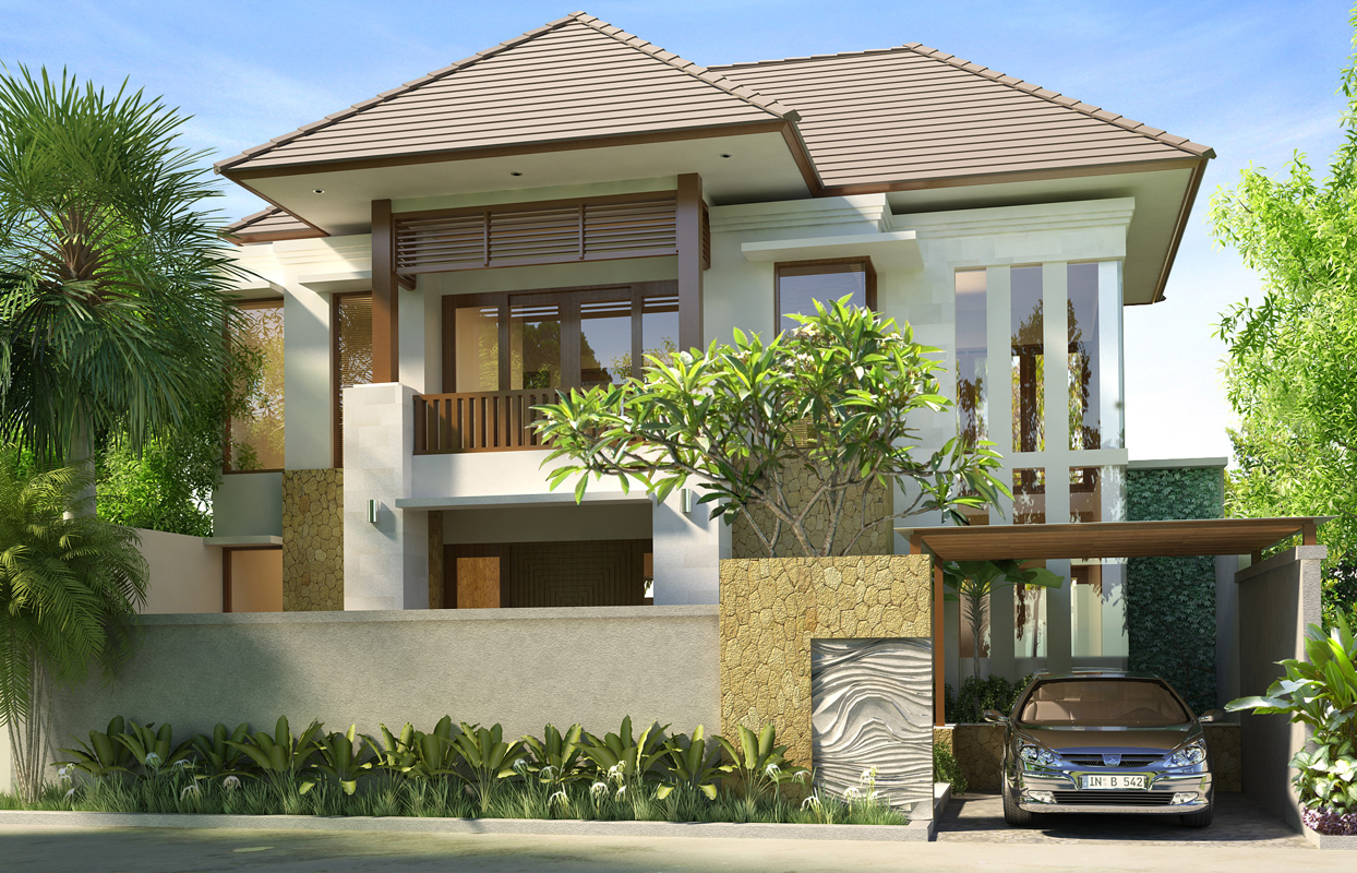 Desain rumah tanah pojok desain rumah mesra for 10 meter frontage home designs