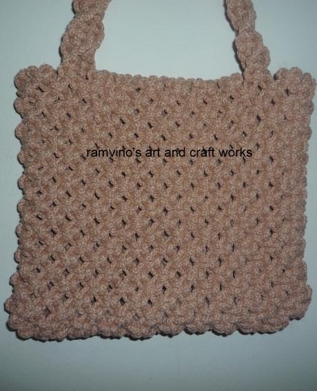 Innovative Art And Craft Works Macrame Bag