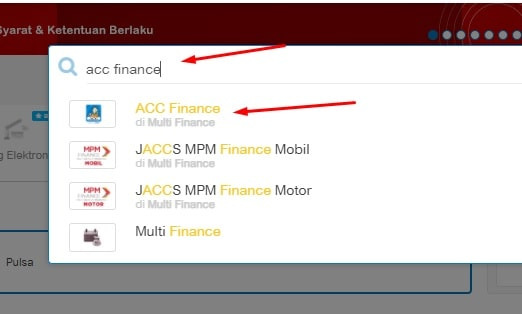 cek angsuran acc finance online