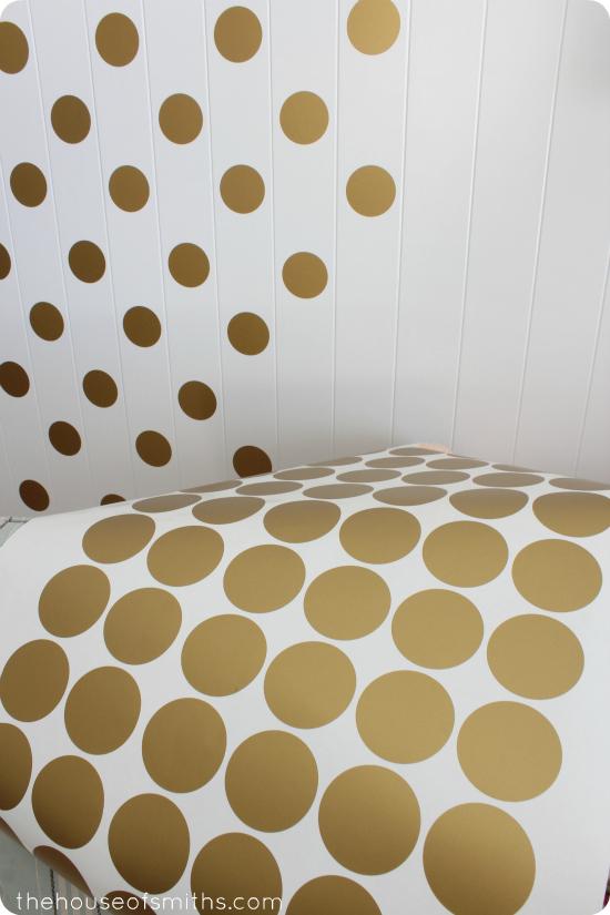 A Gold Polka Dot Accent Wall