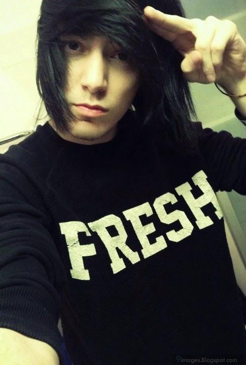 Emo Boy Long Hair Cool Cute Adorable Beautiful