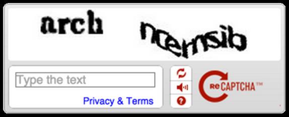 reCAPTCHA Old API