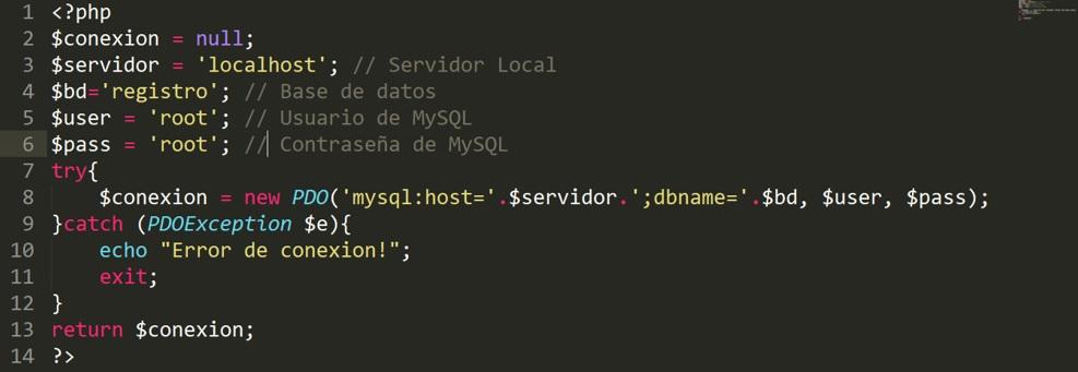 Registro de personas en Php Insertar registros en MySQL