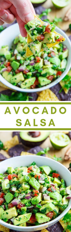Avocado Salsa #avocado #diet #lowcarb #whole30 #paleo