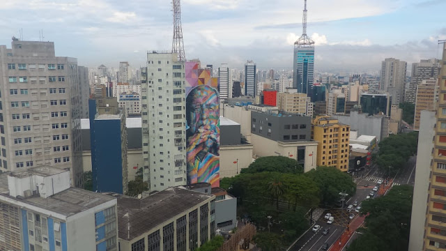 SP desde o mirante do SESC na Av. Paulista