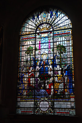 Memorial window in the Musicians' Chapel at St Sepulchre without Newgate (Photo Friends of the Musicians' Chapel)