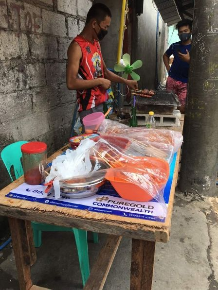 Tricycle driver praised after using Php2k aid to sell barbecue
