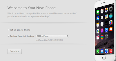 iphone setup as new or restore from backup