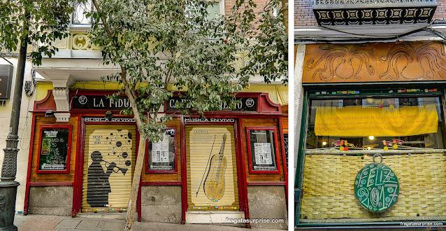 Restaurante e casa noturna no  Barrio de las Letras, Madri