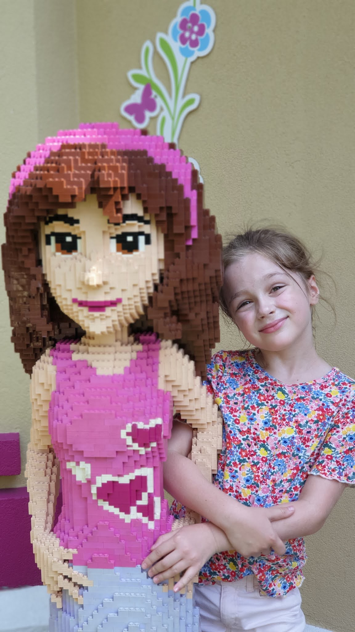 lego friends girl sculpture
