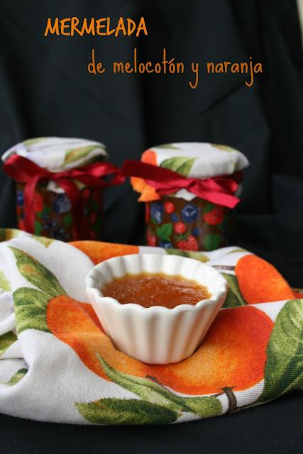 Mermelada de melocotón y naranja