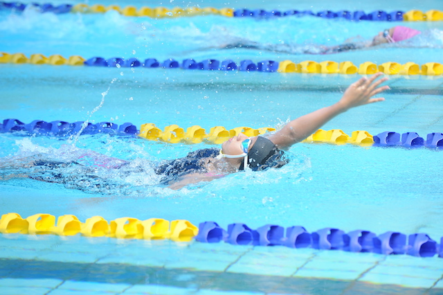Competing in the swimming pool at Beaconhouse International School