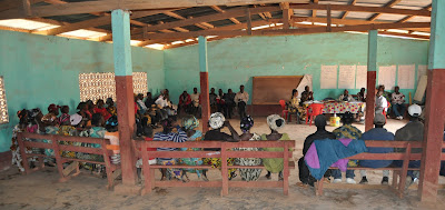 Community Management Committees (CMCs) from the zone of N'Zérékoré gather for the meeting.