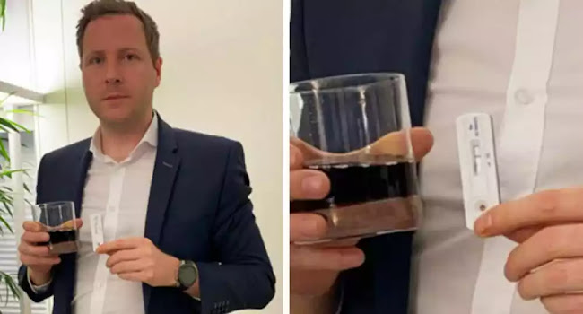 Αυστριακός βουλευτής έκανε τεστ κορονοϊού σε αναψυκτικό και βγήκε θετικό - Βίντεο