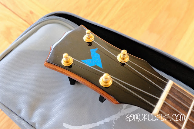 The Rebel Quark Tenor Ukulele headstock