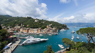 The picturesque fishing village of Portofino has become a draw for artists and celebrities