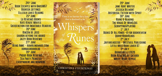 Whispers of the Runes by Christina Courtenay blog tour banner