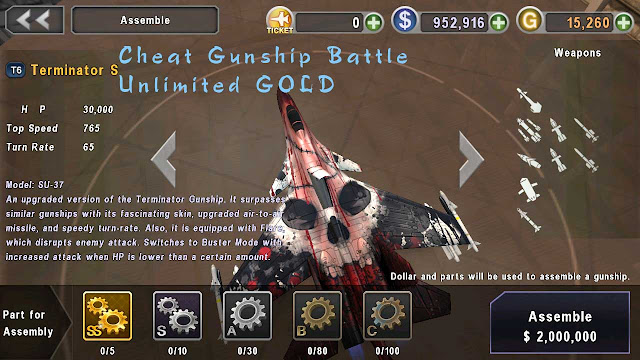 cheat gunship battle unlimited gold