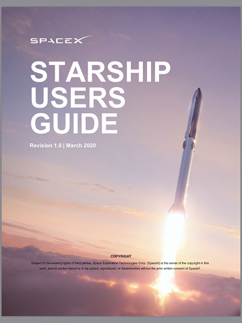 Starship Users Guide (6 pages) now available (Source: SpaceX)