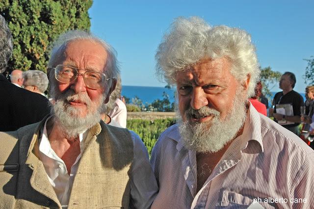 Libereso Guglielmi e Ippolito Pizzetti ai giardini Hanbury