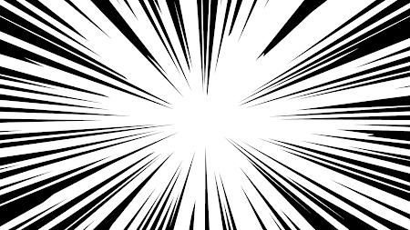 効果線が描かれた背景素材(集中線)