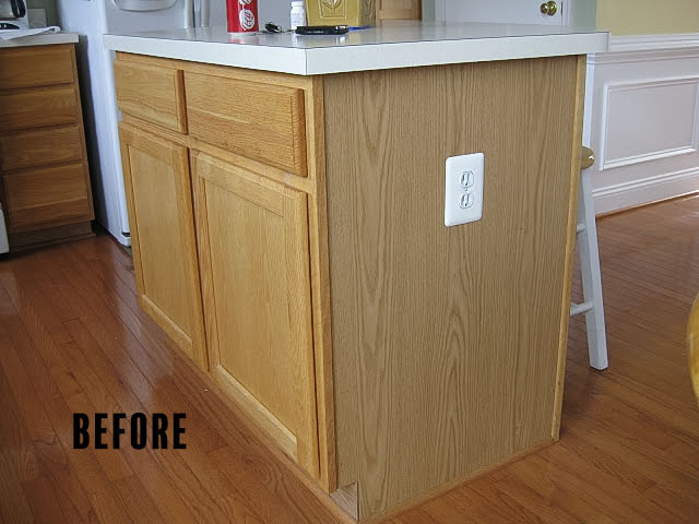 a simple cabinet called kitchen island