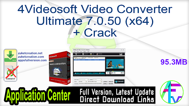 4Videosoft Video Converter Ultimate 7.0.50 (x64) + Crack