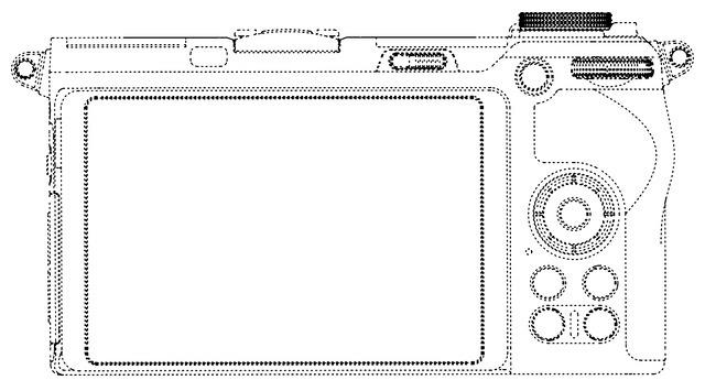 Схематичное изображение беззеркального фотоаппарата