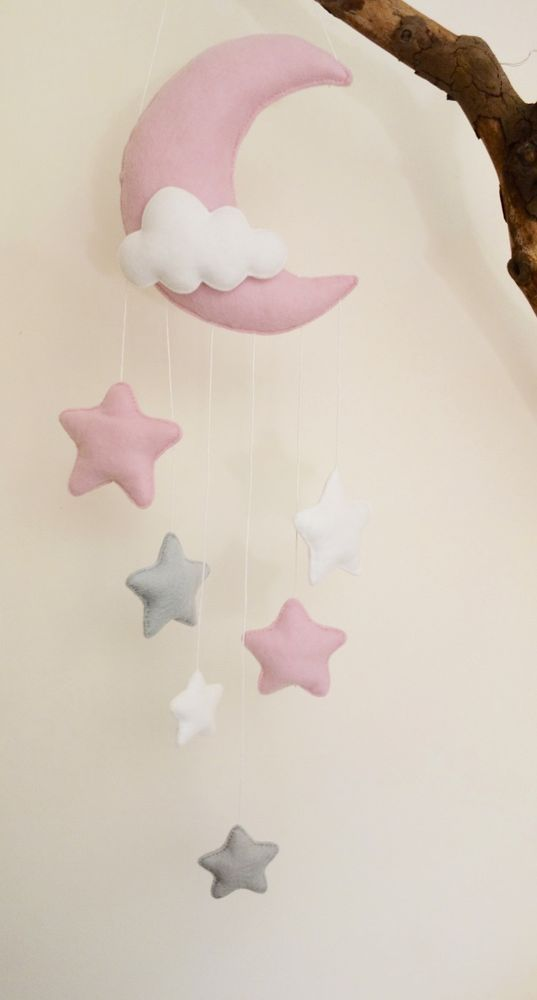 Interiors baby girl nursery inspo pretty young thing for Baby mobile pink and grey