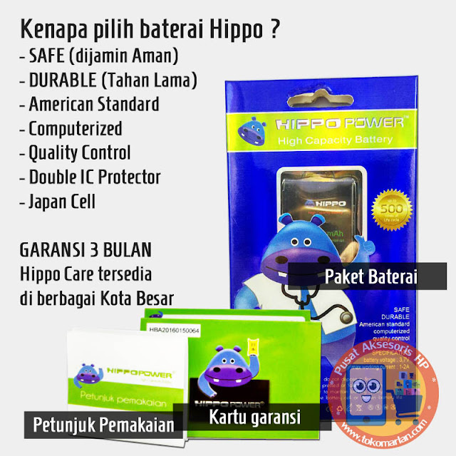 Baterai Hippo Xiaomi Redmi Note BM42 Original