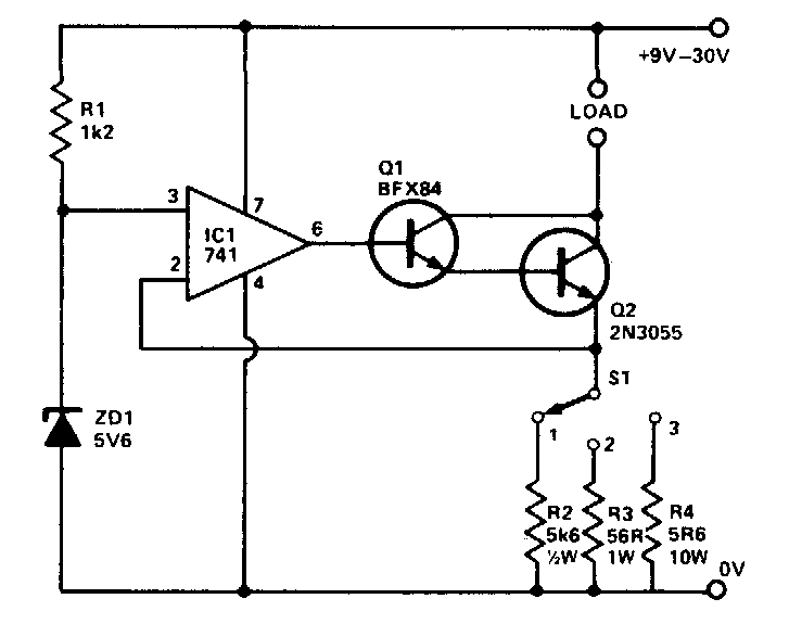 precision buffered reference circuit diagram electronic circuit