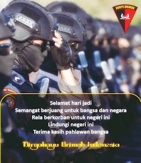 Ucapan dirgahayu brimob indonesia