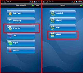 mobile banking menu
