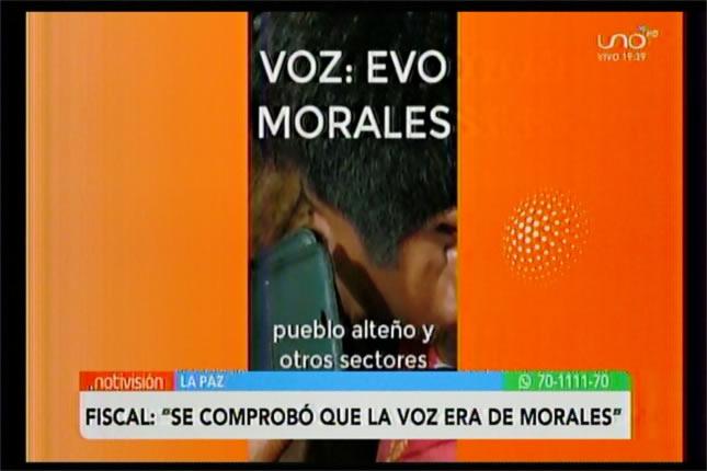 Se comprobó que la voz era de Evo Morales en caso audio-terrorismo