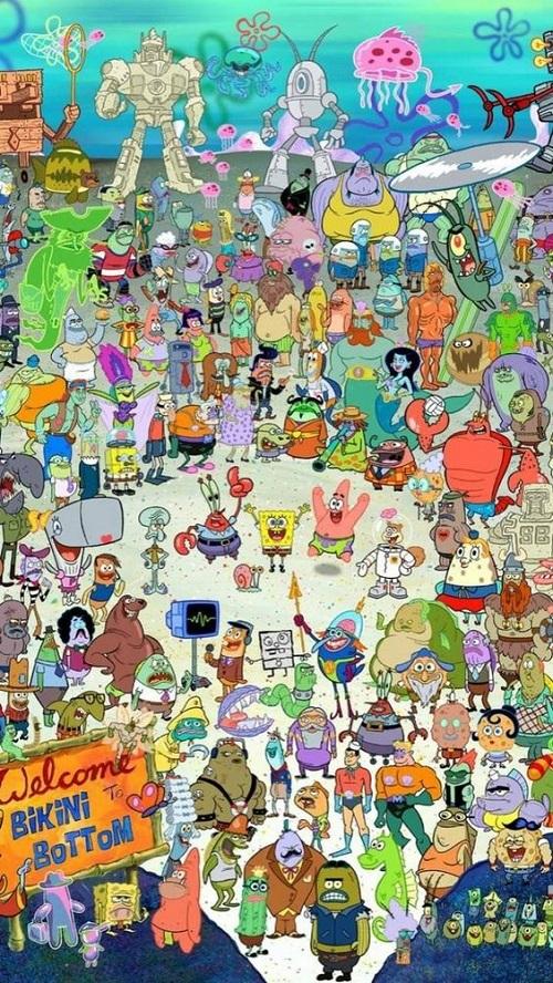 Gambar spongebob untuk wallpaper terbaru