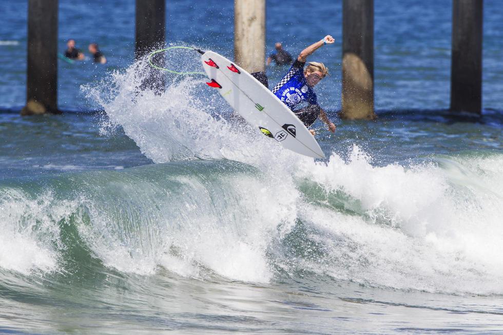 27 Beyrick De Vries Vans US Open of Surfing Foto WSL Sean Rowland