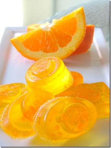 orange, lemon and grapefruit scented soaps