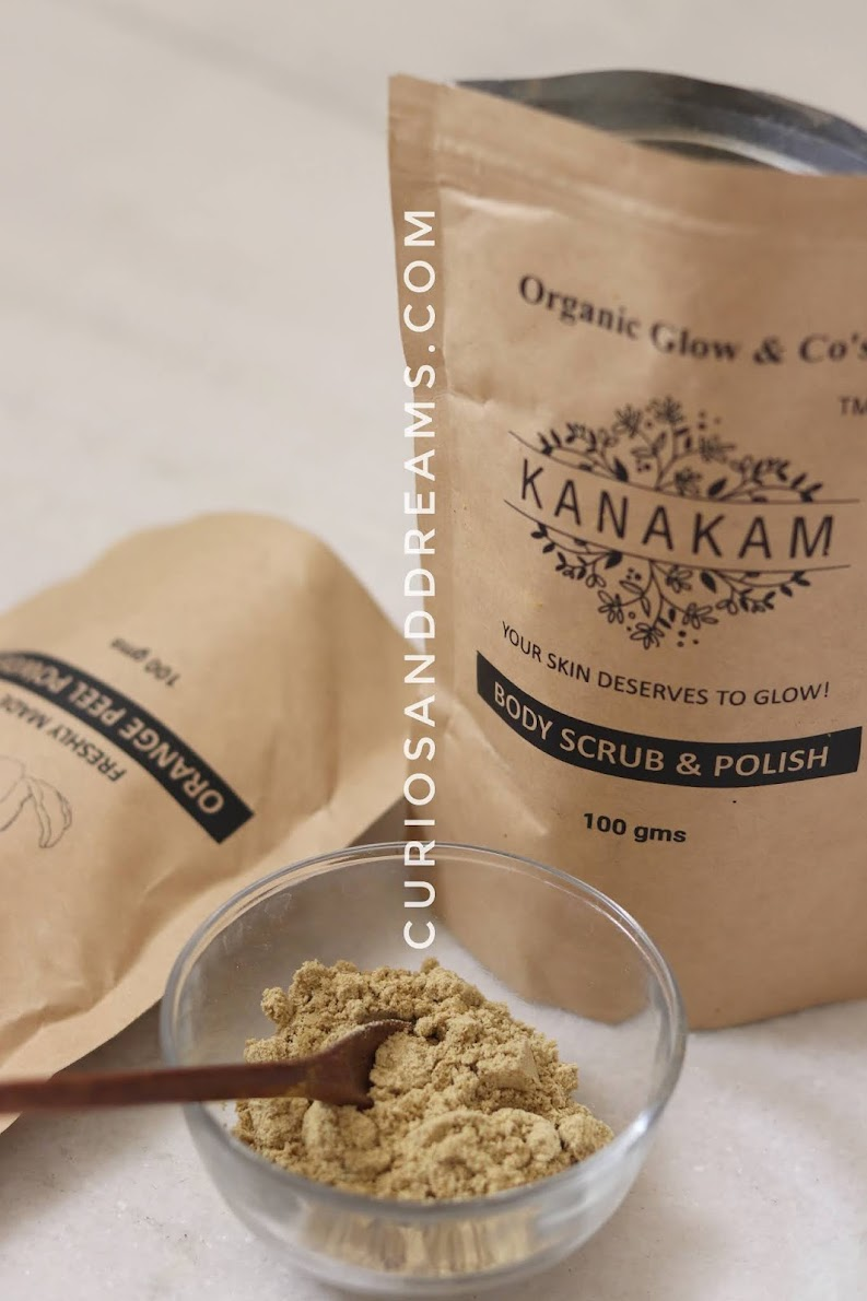 Kanakam Organic Glow Body Scrub & Polish, Kanakam Organic Glow Body Scrub & Polish review, Body Scrub india, Natural body scrub india, Body Ubtan