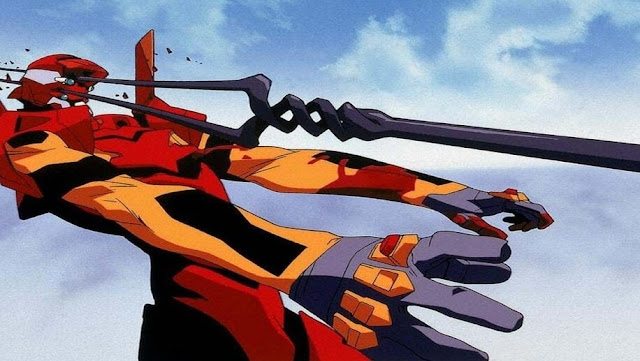 The Spear of Longinus piercing Asuka Langley Soryu