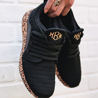 leopard bottom sneakers from marleylilly.com