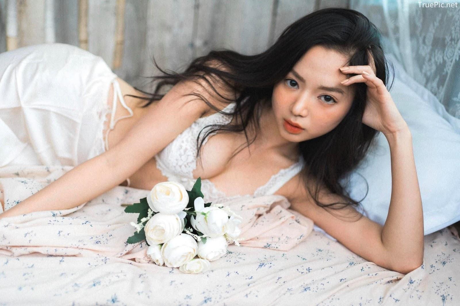 Vietnamese Sexy Model - Vu Ngoc Kim Chi - Beautiful in white - TruePic.net- Picture 25