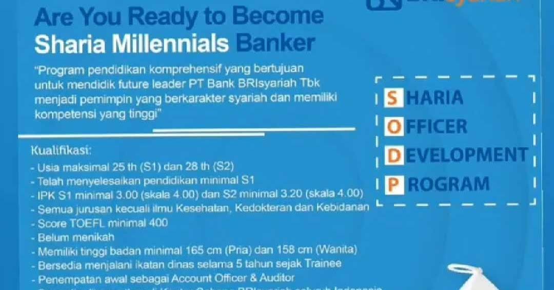 Cara Melamar Kerja Di Bank BRI Syariah Melaui Program ...