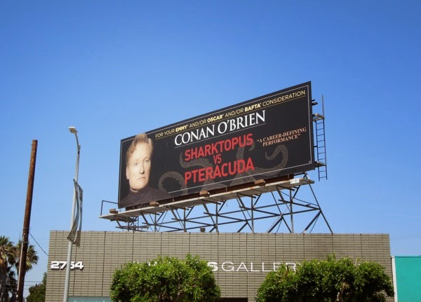 Conan O'Brien Sharktopus vs Pteracuda billboard