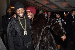 50 Cent Is Good Buddy at Asap Rocky's Rolling Loud Set Stage