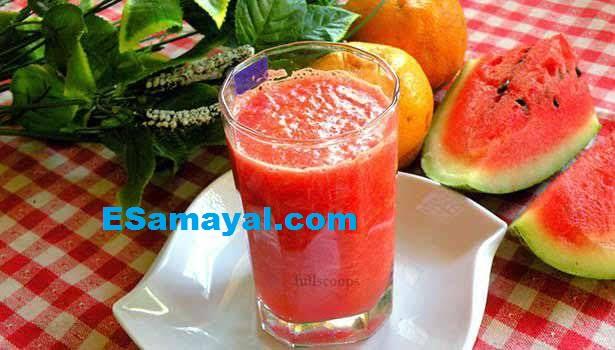 குளிர்ச்சிக்கு தர்பூசணி ஆரஞ்சு ஜூஸ் செய்வது | Watermelon Orange Juice Recipe !