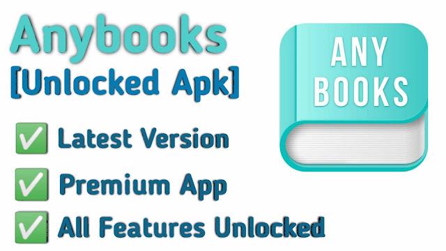 Free Download AnyBooks Premium APK v3.23.0 (MOD Full Unlocked + No Ads)