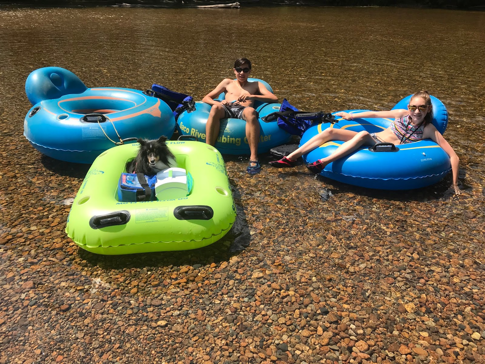 Evan and Lauren's Cool Blog: Saco River Tubing Fun for the